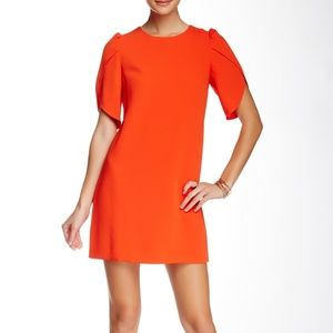 Cynthia Steffe Tulip Sleeve Shift Dress Orange